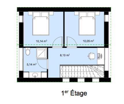 Plan intérieur 1er étage