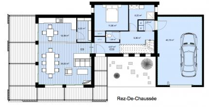 Plan intérieur RDC