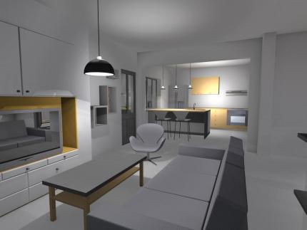 Vue intérieure salon/séjour